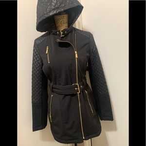 Michael Kors Quilted hooded Jacket Coat Size Small